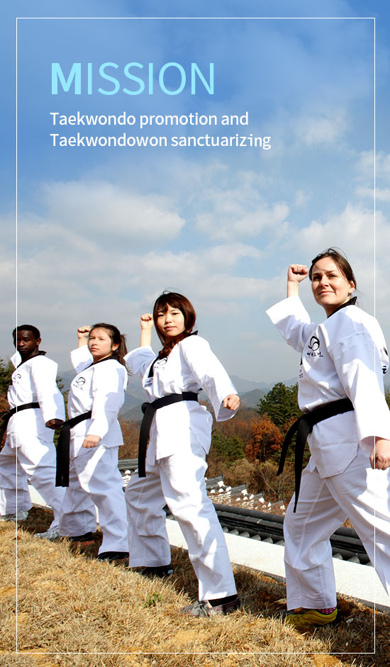 mission.Taekwondo promotion and Taekwondowon sanctuarizing